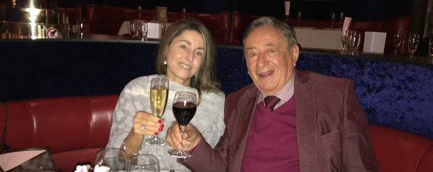 Richard Lugner und seine Freundin Andrea im Restaurant