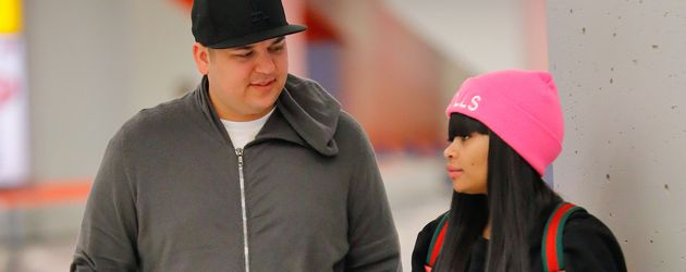 Rob Kardashian und Blac Chyna am JFK Flughafen in New York