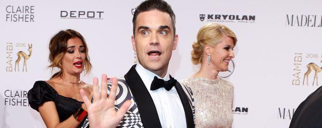 Robbie Williams auf dem Red Carpet beim 68. Bambi