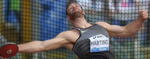 Robert Harting im Olympia Stadion in Rom