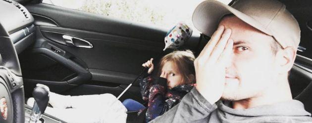 Rocco Stark mit seiner Tochter Amelia