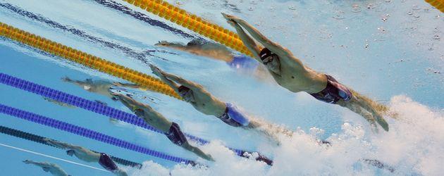 Santo Condorelli beim 100Freestyle Relay bei den Olympischen Spielen in Rio