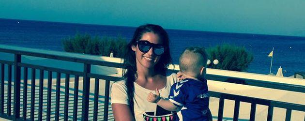 Sarah Lombardi mit Alessio auf Kreta