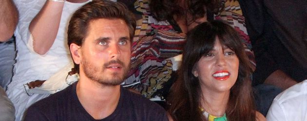 Scott Disick und Kourtney Kardashian bei einer Fashion-Show in Miami
