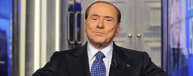 "Silvio Berlusconi in der Talkshow ""Porta a Porta"" in Rom"