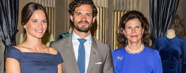 Prinz Carl Philip von Schweden, Sofia Hellqvist und Königin Silvia von Schweden