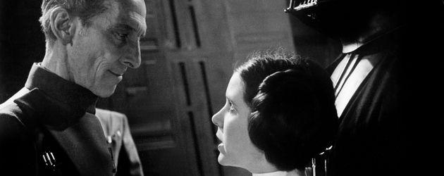 """""""Star Wars""""-Darsteller Peter Cushing und Carrie Fisher"""