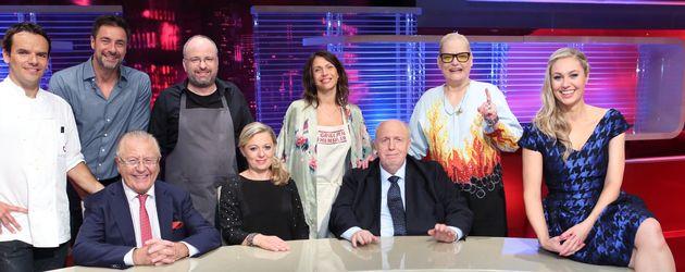 Jana Pallaske, Ruth Moschner, Steffen Henssler, Hella von Sinnen und Marco Schreyl