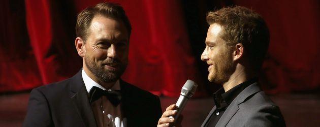 Steven Gätjen und Alexander Fehling bei der 11.Züricher Film Awards 2015
