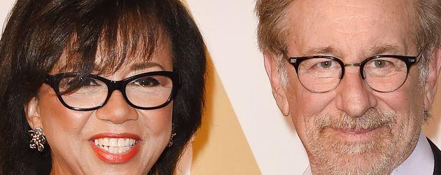 Oscar-Präsidentin Cheryl Boone Isaacs mit Steven Spielberg