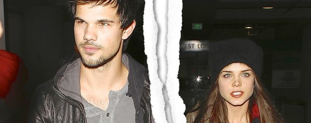 Taylor Lautner und Marie Avgeropoulos