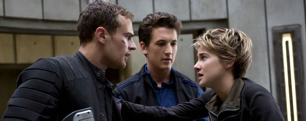 "Theo James, Miles Teller und Shailene Woodley in ""Insurgent"""