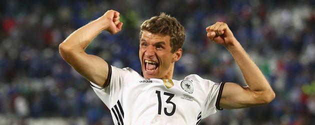 Thomas Müller beim EM-Viertelfinale Deutschland gegen Italien 2016 in Bordeaux