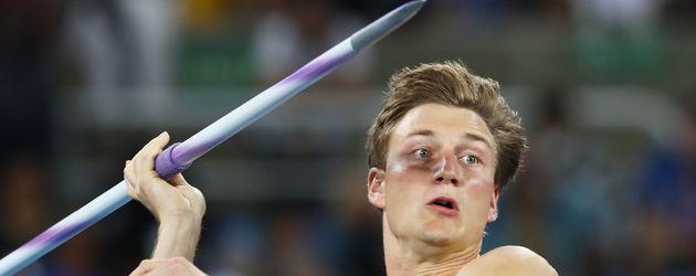 Thomas Röhler beim Olympia-Speerwurf-Finale 2016