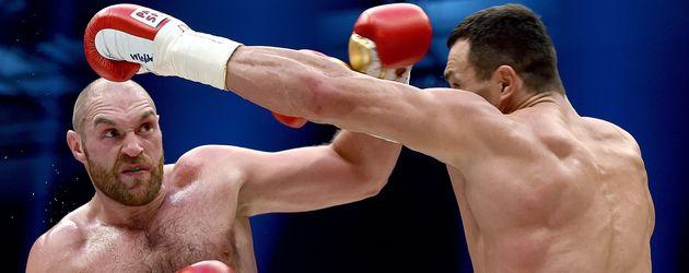 Wladimir Klitschko und Tyson Fury bei ihrem Kampf am 28. November 2015