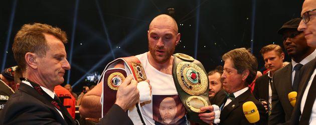 Tyson Fury nach seinem Sieg über Klitschko im November 2015