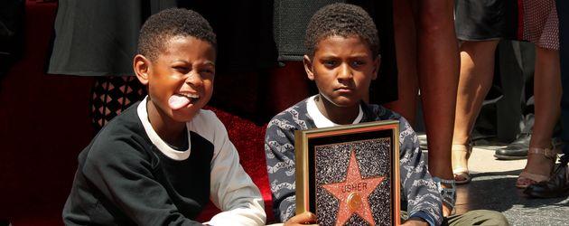 Ushers Kids, Usher V und Naviyd Ely, auf dem Walk of Fame