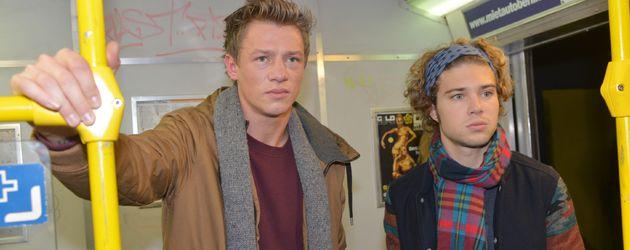 Vince (Vincent Krüger) und Zac (Jascha Rust) bei GZSZ