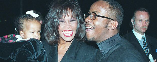 Whitney Houston mit Bobbi Kristina und Bobby Brown